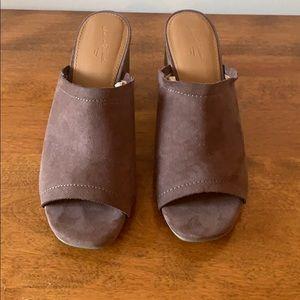 Brown suede mule sandals - Universal Thread
